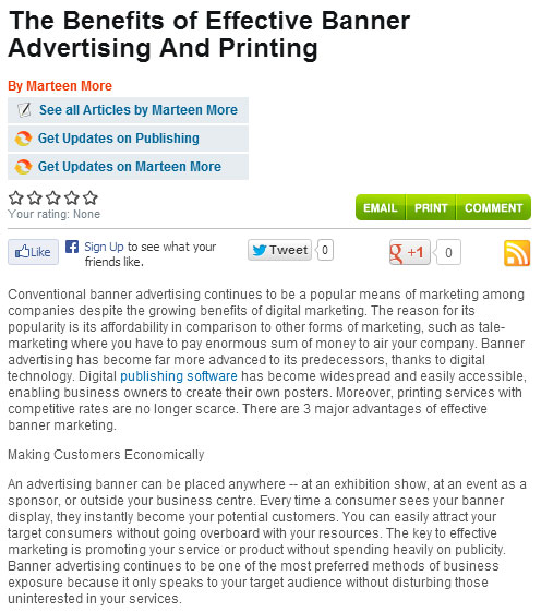 the benefits of effective banner advertising and printing