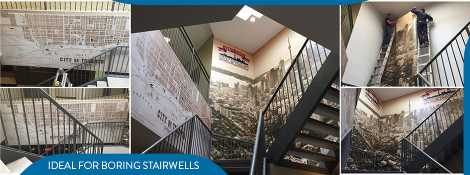 stairwell wall graphics toronto