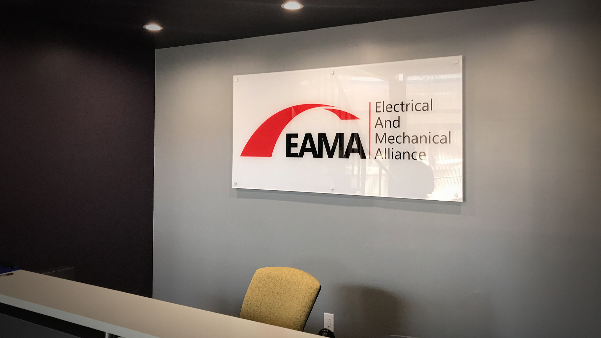 Reception Area Signs Toronto We Install In The Gta